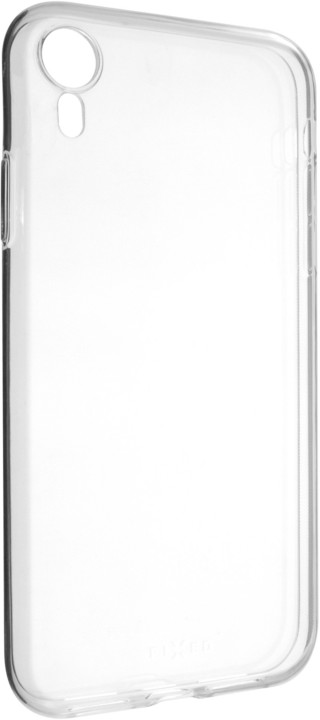 FIXED Ultratenké TPU gelové pouzdro Skin pro Apple iPhone Xr, 0,6 mm, čirá
