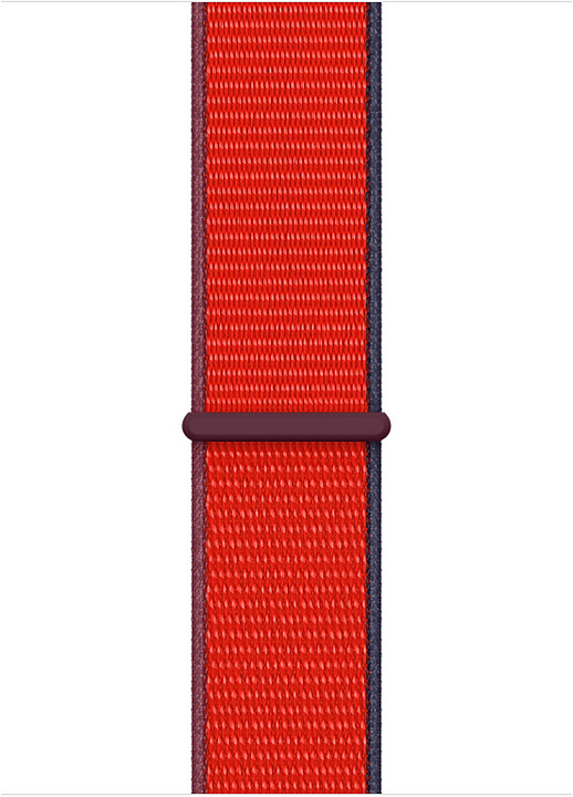 Apple řemínek pro Watch Series, provlékací sportovní, 44mm, červená (PRODUCT RED)