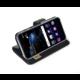 CELLY Air ultratenké pouzdro typu kniha pro Huawei P10 Lite, PU kůže, černé