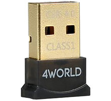 4World USB MICRO Adaptér Bluetooth, v.4.0, Class 1 - 10242