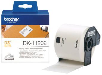 Brother DK-11202 papírové/poštovní štítky 62x100mm, 300ks