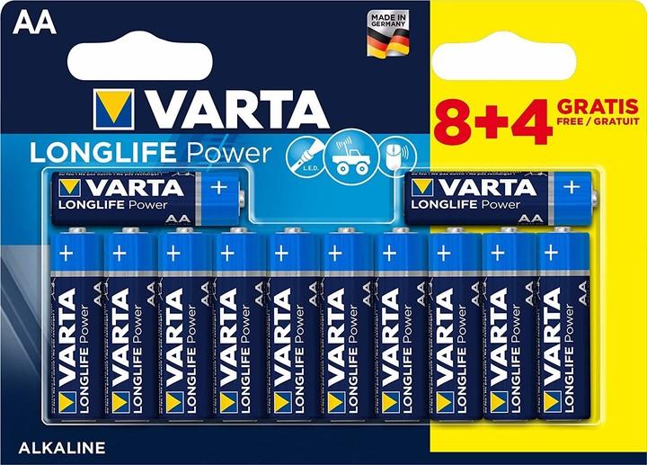 VARTA baterie Longlife Power AA, 8+4ks