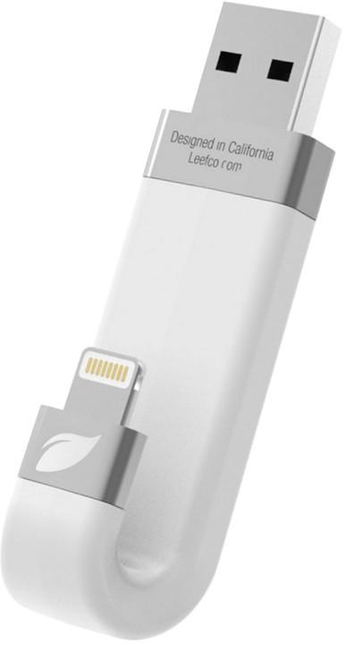 Leef iBRIDGE - 128GB, Lightning, bílá