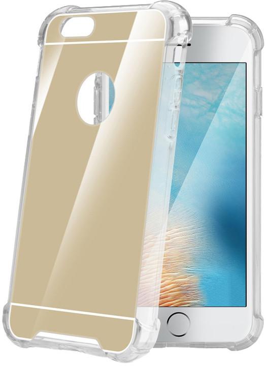 CELLY Armor zadní kryt pro Apple iPhone 7, se zrcadlovým efektem, zlaté