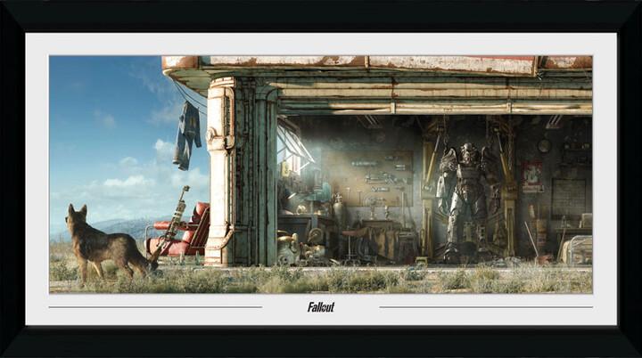 Zarámovaný plakát Fallout - Garage