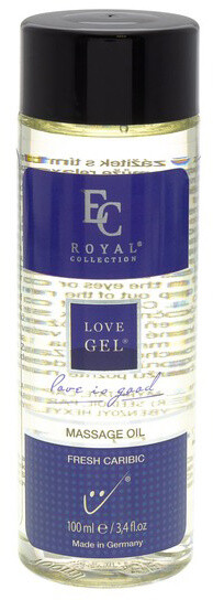 Masážní olej Love Gel, Fresh Caribic, 100 ml