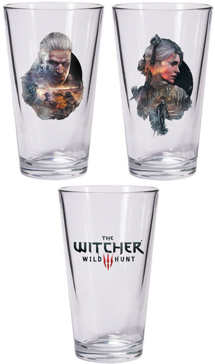 Skleničky The Witcher - Set Geralt a Ciri