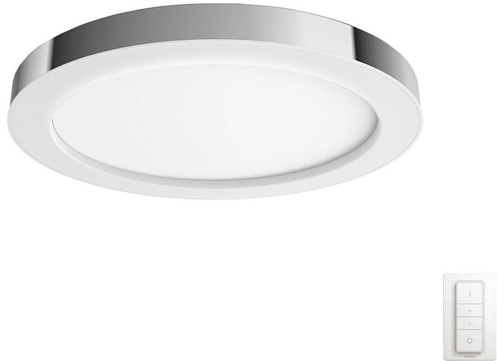 PHILIPS Adore Stropní svítidlo, Hue White ambiance, 230V, 1x40W integr.LED, chrom