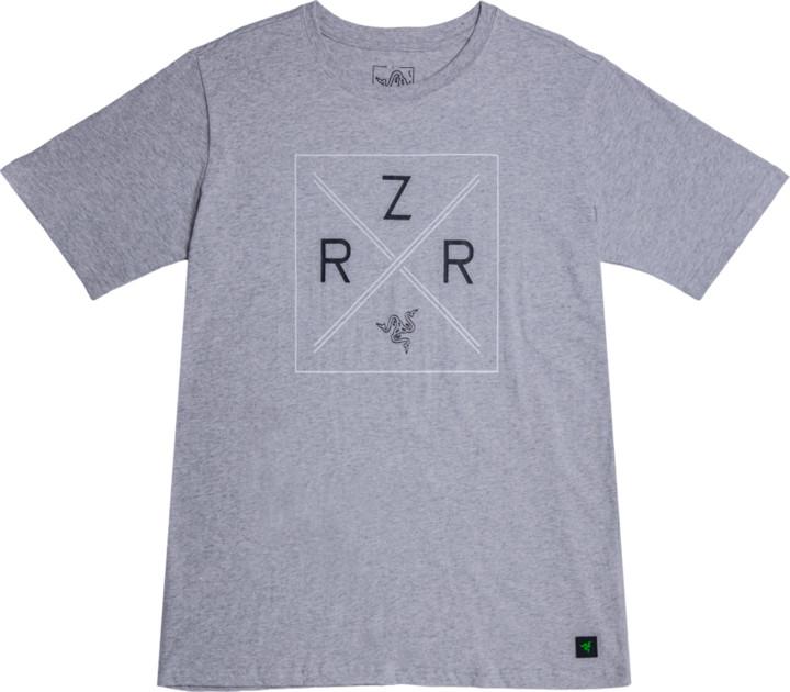 Tričko Razer Lifestyle Chroma Shield, šedé (XL)