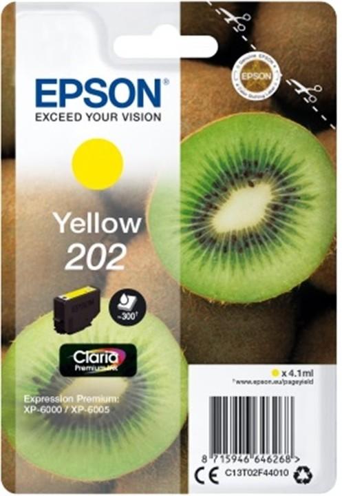 Epson C13T02F44010, 202 claria yellow