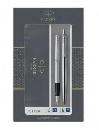 Parker Jotter Stainless Steel CT, sada plnicího a kuličkového pera