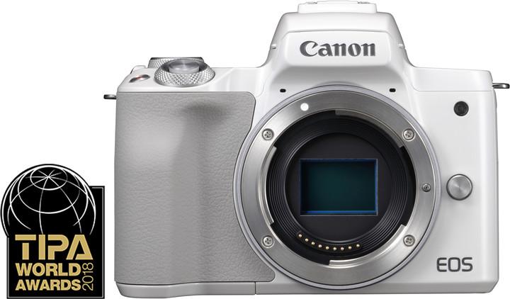Canon EOS M50, tělo, bílá