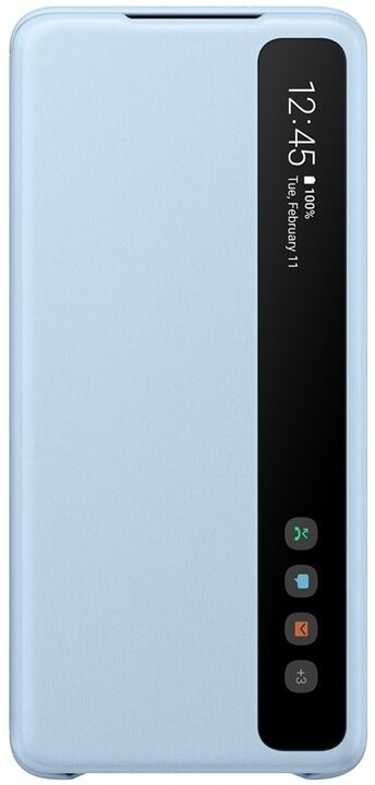 Samsung flipové pouzdro LED Clear View pro Galaxy S20+, modrá