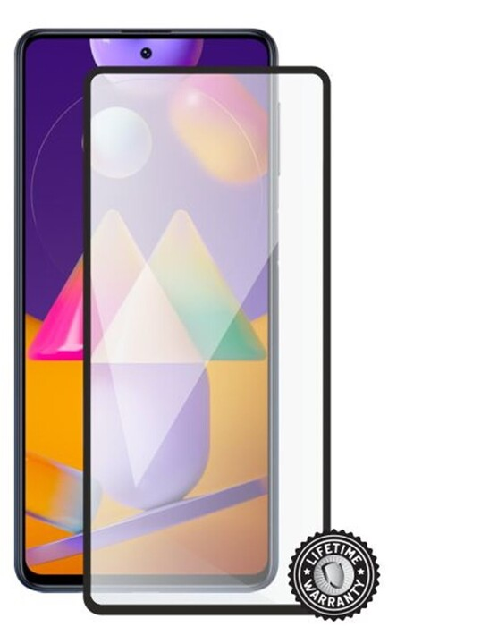 Screenshield temperované sklo pro Samsung Galaxy M31s, Full Cover, černá