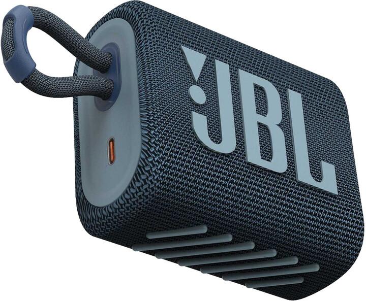 JBL GO3, modrá