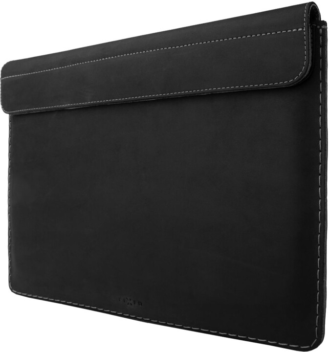 "FIXED kožené pouzdro Oxford pro Apple Macbook 12"", černá"