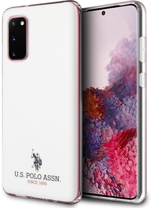 U.S. Polo ochranný kryt Small Horse pro Samsung Galaxy S20, bílá