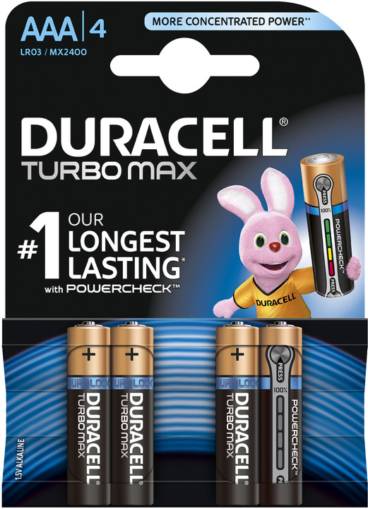 Duracell Turbo Max AAA, 4ks