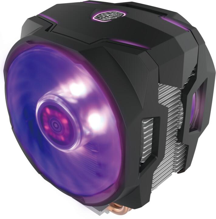 CoolerMaster MasterAir MA610P, duální RGB ventilátory s RGB ovladačem