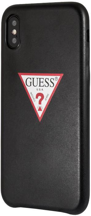 GUESS PU Leather Case Triangle pro iPhone XS Max, černá