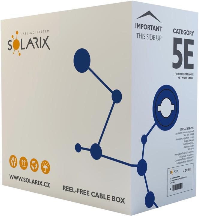 Solarix instalační kabel CAT5E FTP PVC E 305m/box SXKD-5E-FTP-PVC