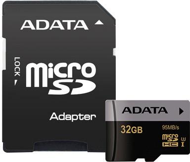 ADATA Micro SDHC Premier Pro 32GB UHS-I U3 + adaptér