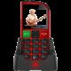 Evolveo EasyPhone FM SGM EP-800-FMR, red  + Elektronické předplatné čtiva v hodnotě 4 800 Kč na půl roku zdarma