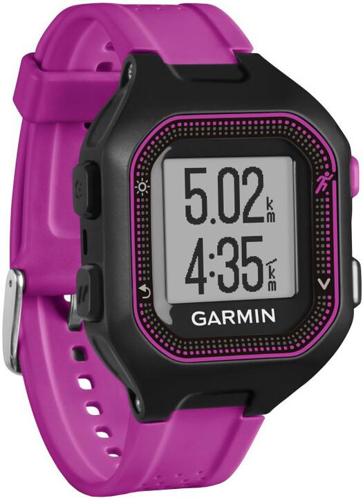 GARMIN Forerunner 25 HR Optic, S, fialová/černá