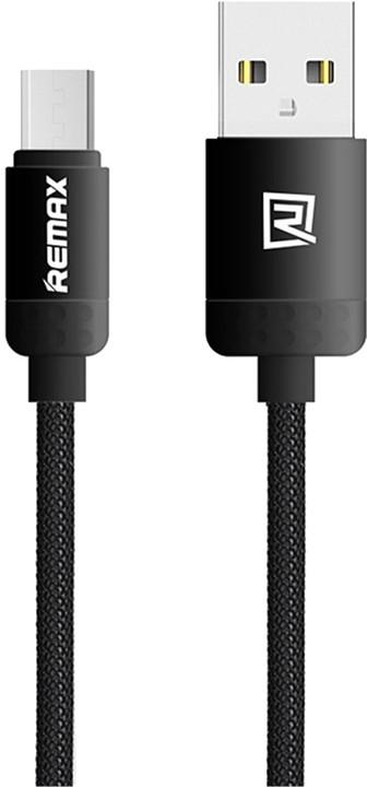 Remax Lovely datový kabel s micro USB, 1m, černá