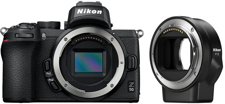 Nikon Z 50 + FTZ adapter