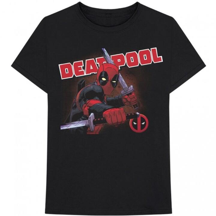 Tričko Marvel - Deadpool, cover, černé (M)
