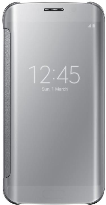 Samsung Clear View EF-ZG925B pouzdro pro Galaxy S6 Edge (G925), stříbrná