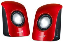 Genius SP-U115, přenosné repro, USB napájení, červené