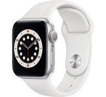 Apple Watch Series 6, 40mm, Silver, White Sport Band O2 TV Sport Pack na 3 měsíce (max. 1x na objednávku)