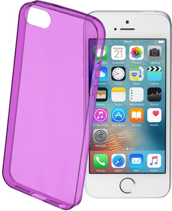 CellularLine COLOR barevné gelové pouzdro pro Apple iPhone 5/5S/SE, fialové