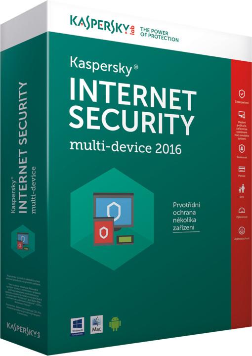 Kaspersky Internet-Security multi-device 2017 CZ pro 3 zařízení na 12 měsíců, nová licence