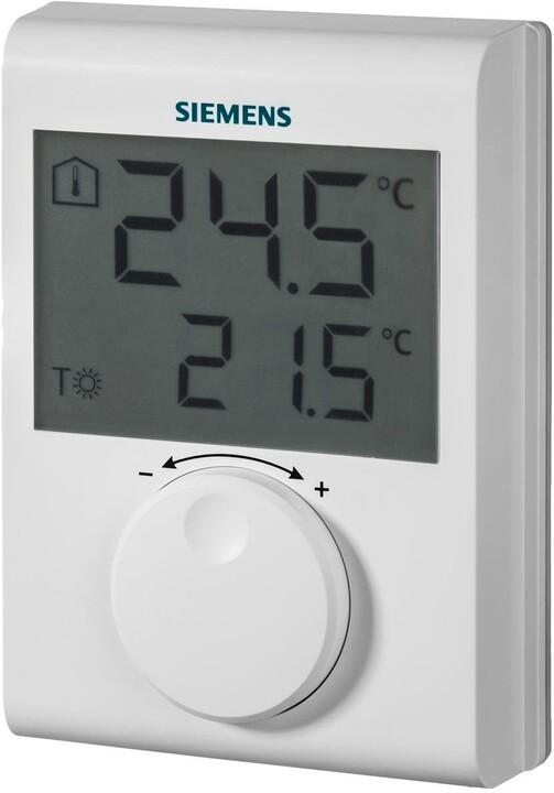 Siemens digitální prostorový termostat RDH100, s kolečkem, drátový