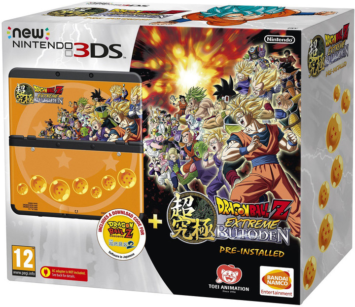 Nintendo New 3DS Black+Dragonball Z+SNES+Faceplate