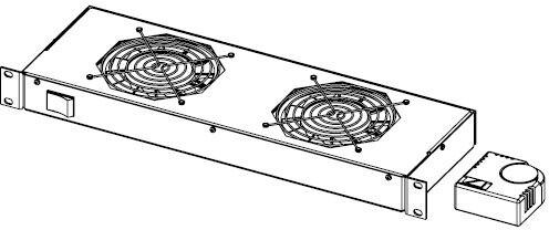 Legrand EvoLine 2x ventilátor + termostat 1U