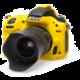 Easy Cover silikonový obal Reflex Silic pro Nikon D750, žlutá