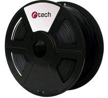 C-TECH tisková struna (filament), PLA, 1,75mm, 1kg, černá