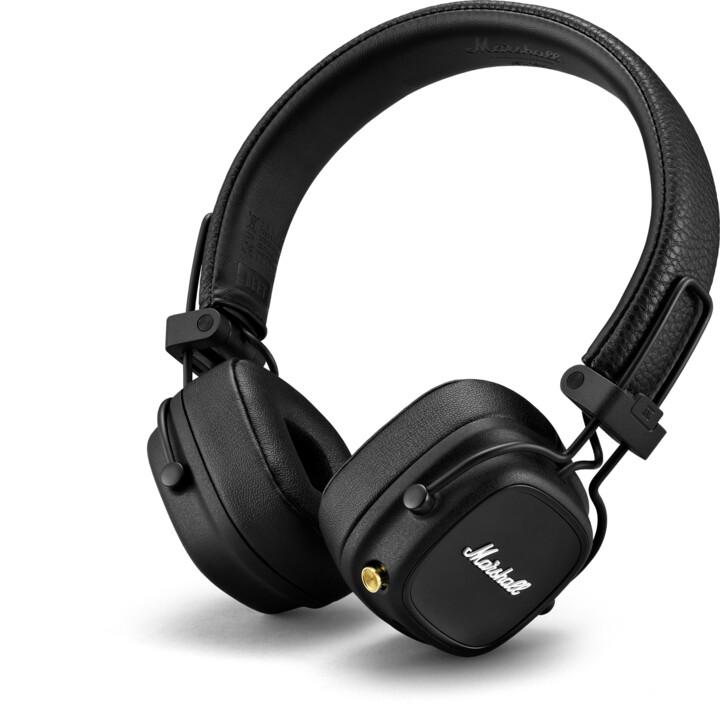 Marshall Major IV Bluetooth, černá
