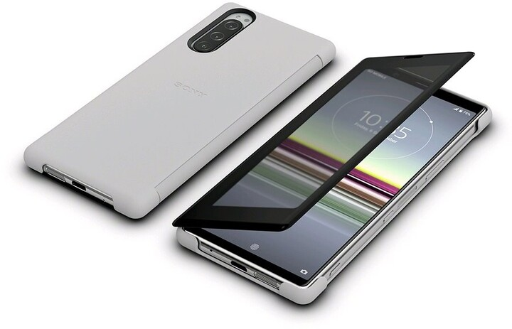 Sony SCVJ10 Style Cover View Xperia 5, šedá