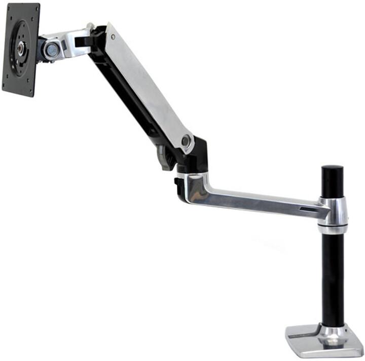Ergotron LX Desk Mount LCD Arm, Tall Pole - Montážní sada pro Displej LCD - leštěný hliník