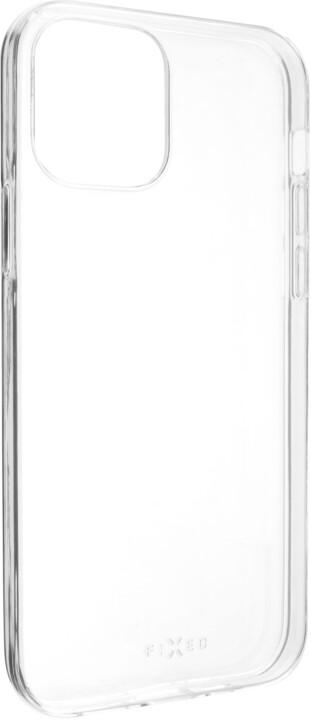 FIXED ultratenké TPU gelové pouzdro Skin pro Apple iPhone 12/12 Pro, 0.6 mm, čirá