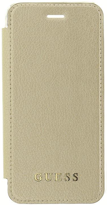 GUESS IriDescent flipové pouzdro pro iPhone 7/8, Gold