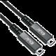 Club3D kabel USB-C Gen3x2 (USB4), M/M, 8K@60Hz, 40Gbps, PD, 100W, 0.8m , černá