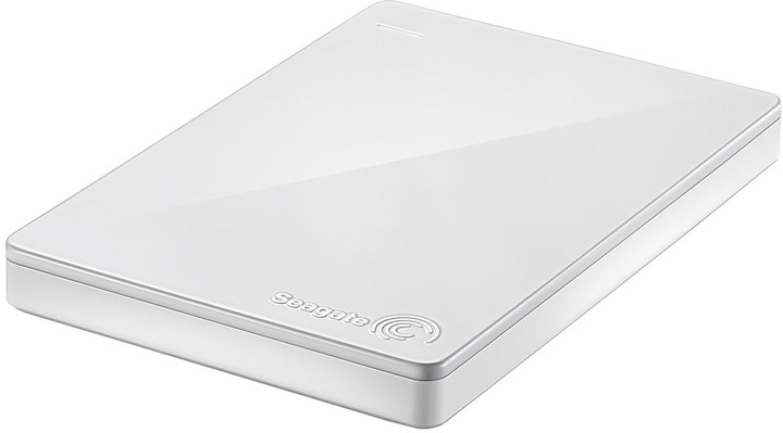 Seagate Backup Plus Slim - 1TB + 200GB OneDrive, bílá