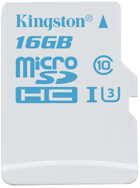 Kingston Action Card Micro SDHC 16GB Class 10 UHS-I U3