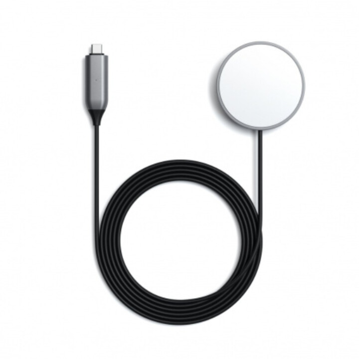 Satechi Magnetic Wireless Charging Cable, šedá